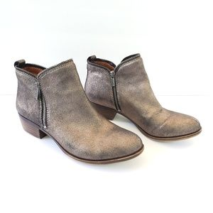 Lucky Brand Bartilino Metallic ankle zip up boots
